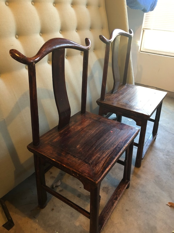 10c0a5a2e Used Pair of Antique Chinese wooden chairs for sale in Woodbridge ...