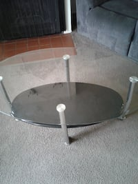 round clear glass top coffee table