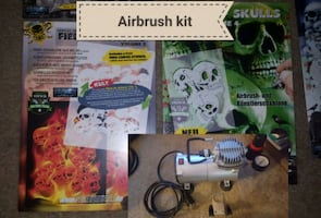 Custom auto airbrush kit (pro kit)bundle.Will trade for auto tools