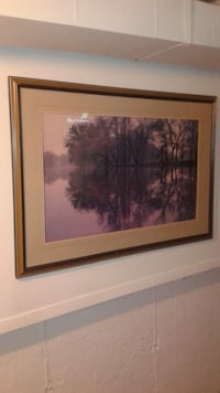 brown wooden framed painting of trees Barrie, L4M 5S1