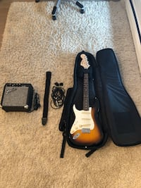 Brand new strat squire fender guitar and a frontman 10g amp Surrey, V4P 2B5