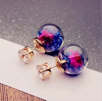 Two blue and red gemstone stud earrings Bethesda, 20817