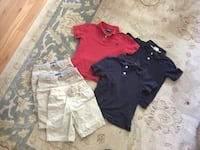 School uniform shorts and shirts size 5/6