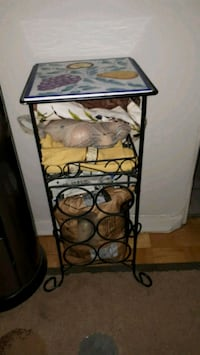 Iron with tile wine holder table Ottawa, K2G 3Y3