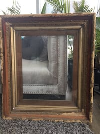 Gorgeous antique gold leaf carved extra large picture frame with glass Toronto, M5H