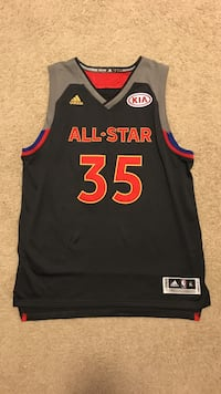 2017 gray and black All-Star Kevin Durant KIA Adidas jersey