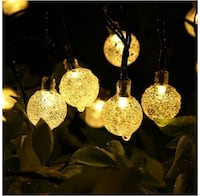 21-Feet Outdoor Globe Solar String Lights Montreal