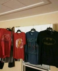 4 assorted crew-neck shirts 1165 km
