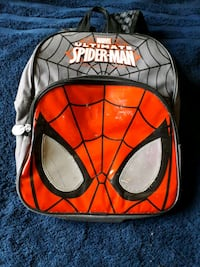 red and grey Spider-Man backpack London