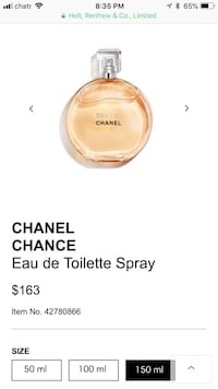 Chanel Chance 150mL Burnaby, V5E 1R7