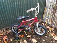 small bike with training wheels