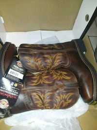black leather cowboy boots with box Houston, 77076