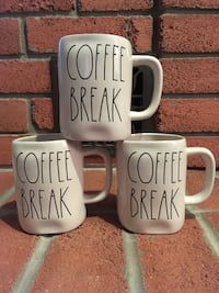Rae Dunn Coffee Break Mugs (New) Burlington, L7L 5W9