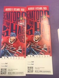 Wednesday Dec 11 game.Great seats for sale at a discount Montréal, H1H 5L8