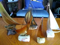 set of 5 decorative boats 3 are signed Fairfax, 22033