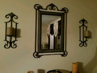 3 piece set mirror and 2 sconces with candles 271 mi