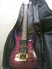 purple floral electric guitar with case Santa Rosa, 95401