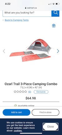 Ozarl Trail 3-Piece Camping Combo