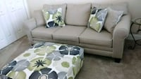 gray fabric sectional sofa with throw pillows Punta Gorda, 33950
