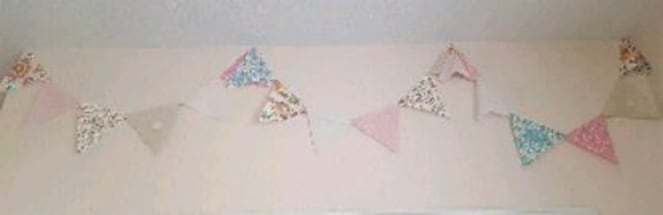Bedroom / Party Decor: fabric pennant flags & more