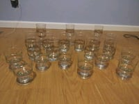 21 Piece Set of Hand Painted Christmas Glasses