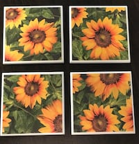 Coasters set of four Sunflowers Soddy Daisy, 37379