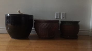 Ceramic Flower pots all three