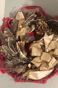 Xmas wreath and storage case. Lights up Hagerstown, 21740