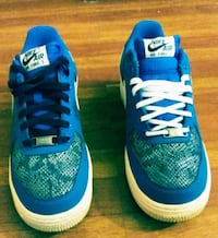 Air Forces 1's snake skin (blue and white) Buffalo, 14220