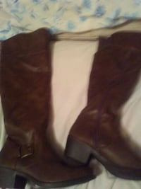 pair of brown leather knee-high boots Wichita, 67216