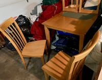 Kitchen table with 4 chairs-wooden