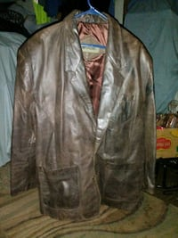 Brown Leather Jacket Size Large Charlestown, 47111