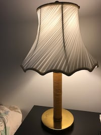 Lamp - white brown gold table lamp 28 km