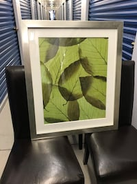 green leafed plant painting with black frame 514 km