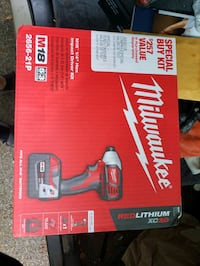 Milwaukee Impact includes battery and charger