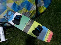 blue and white snowboard with bindings Fort Lauderdale, 33334