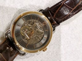 Kenneth cole mens skeleton automatic watch