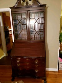 brown wooden framed glass display cabinet Baltimore, 21239