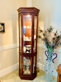 Solid Wood Jasper Cabinet Company Lighted Curio