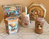 Tin container collection