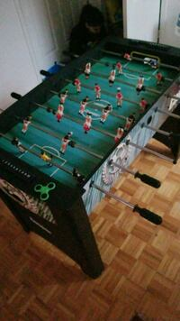 green and black foosball table Montreal, H3R 2G1