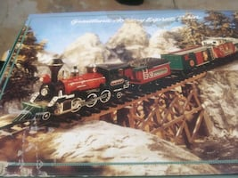 Christmas holiday train set