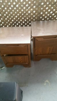 two brown wooden 2-drawer nightstands Longueuil, J4K 2W6
