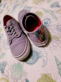 Purple & Rainbow Thread Vans Atlantic Beach, 28512