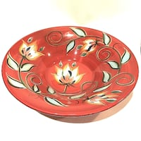 Southern Living at Home Gail Pittman Red Bountiful Centerpiece Serving Bowl ORLANDO