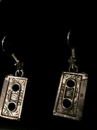 Cassette tape Superstar earrings Reno, 89512