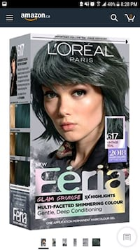 Feria glam grunge in 'vintage teal' hair dye x2