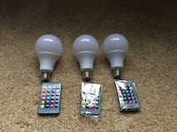 RGB LED 3w lightbulb (3) Silver Spring, 20910