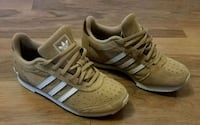 Adidas Tan/Off-White Suede Sneakers - Womens 7 Springfield