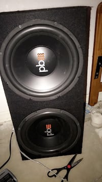 black and gray subwoofer speaker Cape Coral, 33990